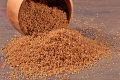 Brown sugar in a bowl Royalty Free Stock Photos