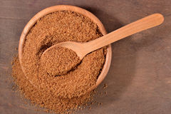 Brown sugar in a bowl Royalty Free Stock Photo