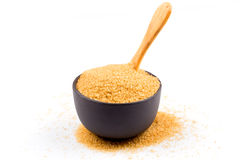 Brown sugar in a bowl Stock Image