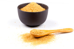 Brown sugar in a bowl Stock Images