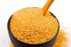 Brown sugar in a bowl Royalty Free Stock Photography