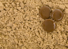 Brown Sugar with Candy Royalty Free Stock Image