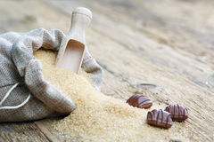 Brown sugar and chocolate Royalty Free Stock Images