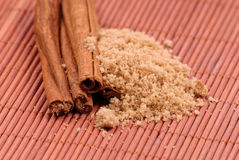 Brown Sugar and Cinnamon Royalty Free Stock Photography