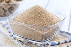 Brown Sugar (close-up shot) Royalty Free Stock Photography