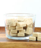 Brown sugar. The closeup of brown sugar stock photo