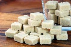 Brown sugar. The closeup of brown sugar Royalty Free Stock Photos