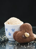 Brown sugar and a cookies Royalty Free Stock Images
