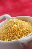 Brown sugar crystals in a bowl Royalty Free Stock Photo
