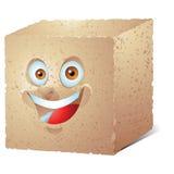Brown Sugar cube cartoon character laughing Stock Photos