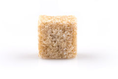 Brown sugar cube  Royalty Free Stock Images