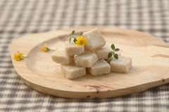 Brown sugar cube Royalty Free Stock Photo