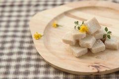 Brown sugar cube Royalty Free Stock Image