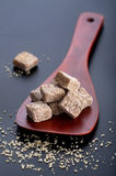 Brown sugar cubes Stock Photos