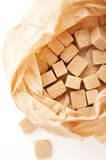 Brown sugar cubes Royalty Free Stock Image