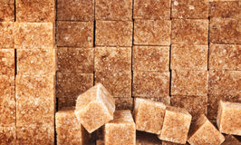 Brown Sugar Cubes foto de stock royalty free