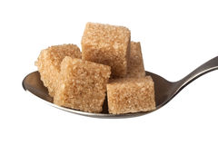 Brown Sugar Cubes Photo stock