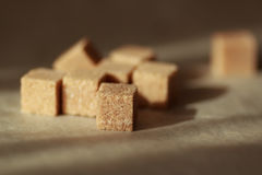 Brown Sugar Cubes Photographie stock libre de droits