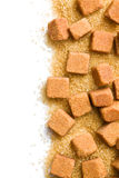 Brown sugar cubes Royalty Free Stock Photo
