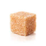 Brown sugar cubes  on white Stock Image