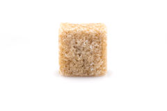 Brown sugar cubes isolated Royalty Free Stock Images