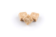 Brown sugar cubes isolated Royalty Free Stock Photos