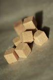 Brown sugar cubes Stock Image