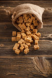 Brown sugar cubes Royalty Free Stock Photos