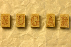 Brown sugar cubes Stock Photography
