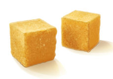 Brown sugar cubes  vector illustration. Stock Images