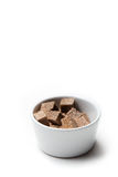 Brown sugar cubes Royalty Free Stock Photography