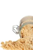 Brown sugar focus on jar Royalty Free Stock Photo