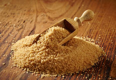 Brown sugar heap Stock Photo
