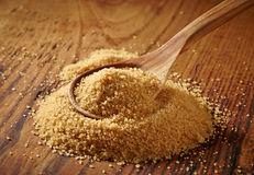 Brown sugar heap Royalty Free Stock Images