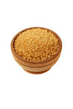 Brown sugar isolated. On white background Royalty Free Stock Photography