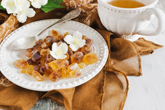 Brown sugar and jasmine tea Royalty Free Stock Photography