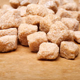 Brown sugar lumps Royalty Free Stock Images