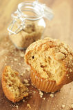 Brown sugar muffin Royalty Free Stock Image