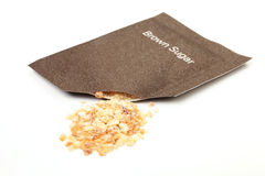 Brown sugar packet Royalty Free Stock Images