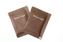 Brown sugar packet Stock Image