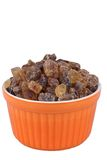 Brown sugar in a pink bowl Stock Images
