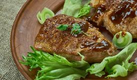 Brown Sugar Pork Chops foto de stock