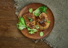 Brown Sugar Pork Chops fotos de stock royalty free