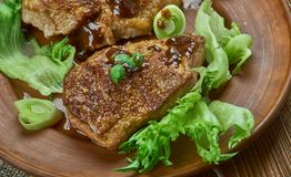 Brown Sugar Pork Chops imagem de stock