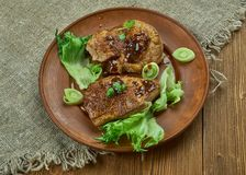 Brown Sugar Pork Chops fotografia de stock royalty free