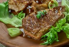 Brown Sugar Pork Chops images stock