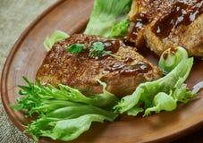 Brown Sugar Pork Chops images libres de droits