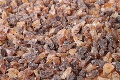 Brown sugar rocks Royalty Free Stock Photography