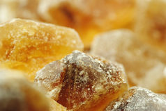 Brown sugar rocks Royalty Free Stock Photos