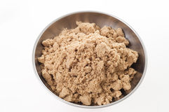 Brown sugar on scale Royalty Free Stock Photos